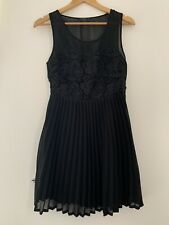Ladies Dress Miso 10 Black Skater Sleeveless Formal Polyester <JS212
