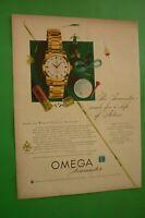 1954 Original Advertising' Watch Omega Seamaster Hobbye