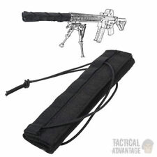 Tactical Airsoft Rifle Suppressor Cover Silencer Muffler Black Barrel Shield UK