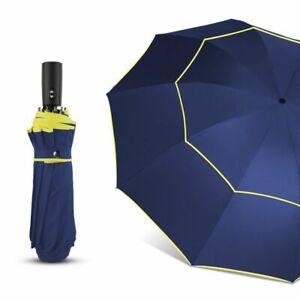 Umbrella 120CM Automatic Double Rain Wind Resistant 3 Folding Women Men Travel