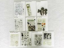 Lot 10 Sets Acrylic Stamps Flowers Phrases Halloween Friends Flowers Valentines