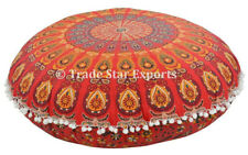 Decorative Large Floor Pillow with Insert Mandala Meditation Round Throw Cushion