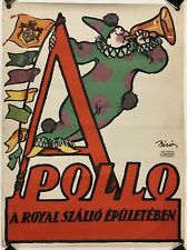 Original Vintage Poster APOLLO by BIRO - FROM HANS SACHS COLLECTION - ON LINEN