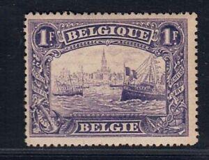 1915 BELGIUM 1fr Antwerp Port, cat.val = 42.00€, very lightly hinged almost MNH