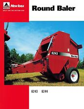 NEW IDEA 6243 6244 ROUND BALER  SPECIFICATIONS and SALES BROCHURE