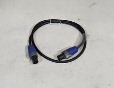 Klotz Sc3-01Bk Speaker Cable with Neutrik speakOn Connectors, Female, 3ft