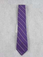 Michelsons of London New Men's Floral Natte Silk Neck Tie, Lilac Purple
