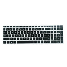 Soft Laptop Keyboard Skin Protective Cover for HP 15.6 inch BF Clear Black  .
