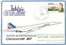 AIR FRANCE CONCORDE TRANSPORTEE A BORD DERNIER VOL 1982 NEW YORK WASHINGTON