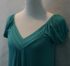 American Rag Stunning Teal Rayon Stretch Blouse Top On or Off Shoulder SZ S EUC