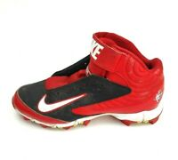 Nike Boy's Youth Huarache Red Black & White Football Cleats US Size 5Y Used Cndt