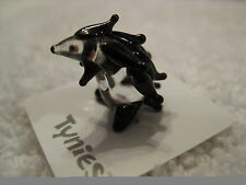 Sid Black Hedgehog Tynies Tiny Glass Figure Figurines Collectibles New 005