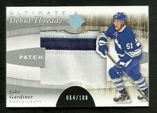 2011-12 Ultimate Collection Debut Threads Patch # 64 of 100  JAKE GARDINER