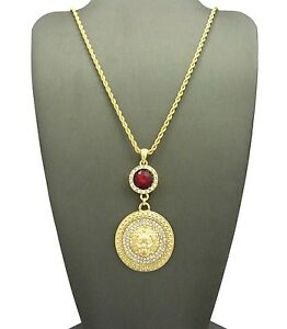 """NEW RUBY MEDUSA PENDANT WITH 24"""" ROPE CHAIN"""