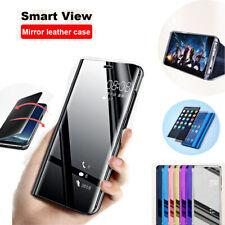Pour iPhone 11 Pro XS MAX XR 7/6Plus/5 Miroir étui cuir Flip coque Flip Case