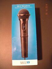 * NEW * NOB Nintendo Wii U Microphone (WUP A MWKA USZ) - BLACK