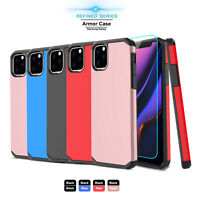 For iPhone 11 Pro Max Phone Case Shockproof Armor Cover With Screen Protector