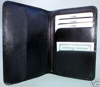 Brieftasche Ausweisetui Portemonnaie Ausweismappe echt Leder schwarz Neu OvP