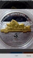 2008 cook Sydney Opera House  gilded silver coin capsule broken little bit