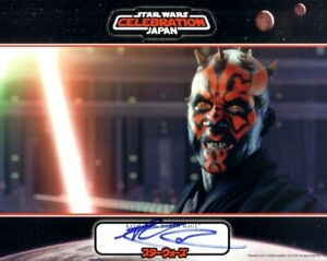 Ray Park autographed signed Star Wars Phantom Menace Official Pix 8x10 photo COA