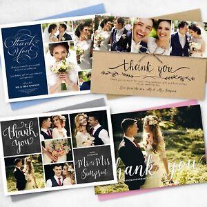 Premium Personalised Wedding Thank You Cards with Photo + FREE Envelopes
