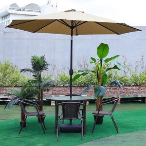 Large 3M Garden Parasol Outdoor Patio Cafe Dining Table Umbrella Beach Sun Shade