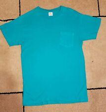 New listing Vintage Teal Hanes Single Stitch Pocket Men's T-Shirt sz. Medium Tee Mint Cond .
