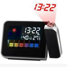 NEW Projection Digital Weather LCD Snooze Alarm Clock with 10 IN 1 USB CABLE