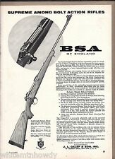 1960 BSA Featherweight Majestic DeLuxe Bolt Action Rifle AD Advertising