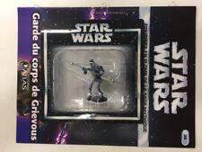 star wars figurine en plomb garde du corps de  grievous n38/60  blister fascicul