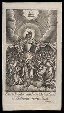 santino incisione1700 S.ORSOLA V.M.
