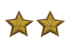 U.S CIVIL WAR UNIFORM BROWN COLLAR STARS 2 PC. PATCH BADGE INSIGNIA NEW