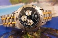 SECTOR CHRONOGRAPH STAINLESS STEEL BLACK QUARTZ MENS DIVER 43mm as is