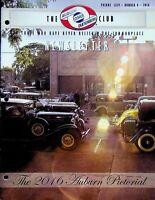 Vintage Auburn Cord Duesenberg Club Newsletter Magazine Vol 64 2016 No. 8 m885