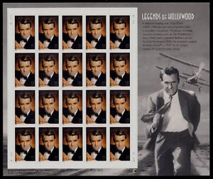2002 CARY GRANT 8th Legends of Hollywood Series: MNH Sheet 20 x 37¢ STAMPS #3692