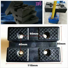 4 Pcs Heavy Duty Rubber Car Lift Pad Hold up Sharp sub-frames Pinch Weld Points
