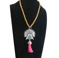 Bettelkette Damen Kette lang Perlen Bohemian Indianer Hippie Boho Modekette NEU