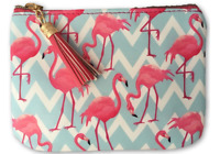 Funky Flamingo Bay Zip Coin Purse with Tassel