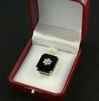 Anhänger chain pendant 950 Platin platinum Brillanten diamonds 1 carat onyx