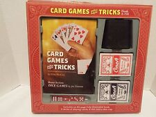 Card Games and Tricks Book With Cards Dice and Dice Cup  NIB