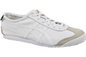 Onitsuka Tiger Mexico 66 DL408-0101 sneakers Blanc, Homme, Cuir de grain