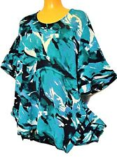 plus sz XL / 24 TS TAKING SHAPE Green Oasis Top stretch soft flowy turquoise NWT