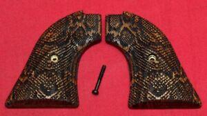Heritage Arms Rough Rider Wood Grips .22 lr / .22 mag Snake Skin Pattern WW