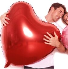 HUGE 75CM VALENTINES DAY RED FOIL HEART BALLOON WEDDING ANNIVERSARY DECORATION