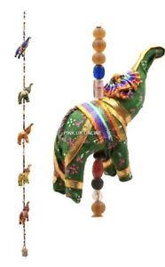 Elephants Multi - Colourful Wall Hangings Decoration Indian Handmade