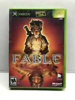 Fable 1 (2004) Black Label Original Microsoft Xbox - Clean Tested Working