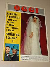 OGGI=1964/15=VALERIA FABRIZI=TIRRENIA=GEMELLI DILIGENTI=VOGHERA=PAVONE CINQUETTI