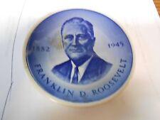 FRANKLIN DELANO ROOSEVELT  Porcelain  Minature PLATE....Denmark.............SALE