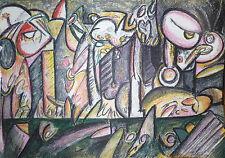 AMARAL Antonio Henrique Lithographie Originale Signée abstraction Bresil