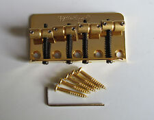 Wilkinson WBBC Gold 4 String Electric Bass Bridge for Precision Bass Jazz Bass